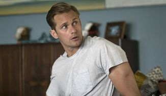 "This image released by HBO shows Alexander Skarsgard in ""Big Little Lies."" Skarsgard was nominated for a Golden Globe award for best supporting actor in a limited series on Monday, Dec. 11, 2017. The 75th Golden Globe Awards will be held on Sunday, Jan. 7, 2018 on NBC  (HBO via AP)"