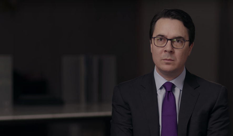 "New Yorker reporter Ryan Lizza, seen here in a screen grab from a PBS video from October 2017, was reportedly fired for what the magazine characterized as ""improper sexual conduct."""