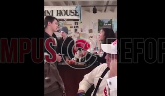"Fordham University in New York City is investigating after a campus coffee shop volunteer was caught on video telling a group of College Republicans to remove their pro-Trump ""Make America Great Again"" hats or leave. (Campus Reform)"
