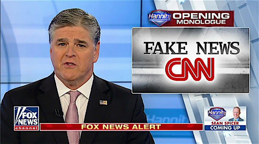 """In this undated file photo, screen capture from Fox News Channel's """"Hannity"""" program. (Fox News) **FILE**"""