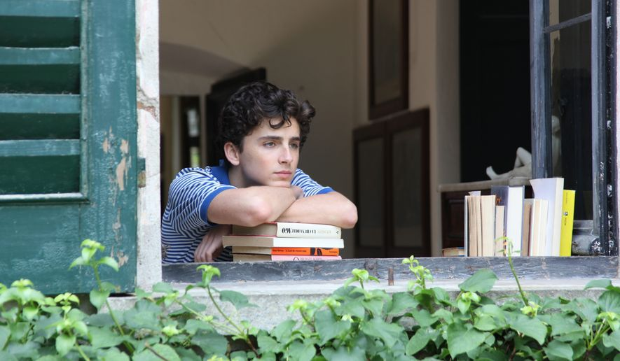 "Timothee Chalamet plays a 17-year-old boy who becomes romantically involved with a 24-year-old man in the film ""Call Me By Your Name."" The film has been called an ""erotic triumph"" and ""strikingly mistimed."" (Associated Press)"