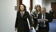 House Minority Leader Nancy Pelosi, D-Calif., heads to the weekly Democrat Caucus meeting on Capitol Hill in Washington, Tuesday, Dec. 12, 2017. (AP Photo/J. Scott Applewhite)