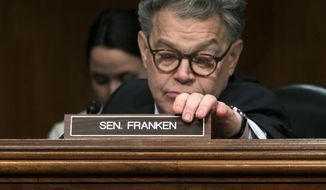 Al Franken attends a hearing of the Senate Health, Education, Labor, and Pensions Committee, on Capitol Hill in Washington, Tuesday, Dec. 12, 2017. (AP Photo/J. Scott Applewhite)