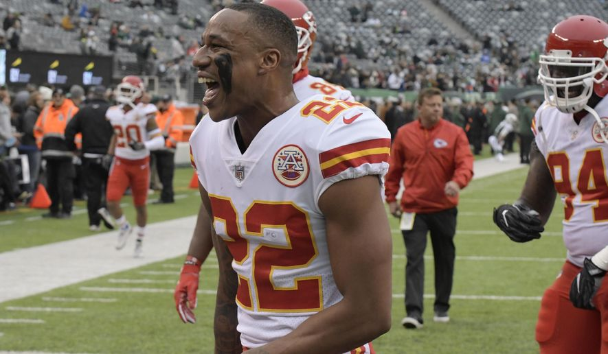FILE - In this Sunday, Dec. 3, 2017, file photo, Kansas City Chiefs' Marcus Peters walks off the field before an NFL football game against the New York Jets in East Rutherford, N.J. Peters is expected to back on the practice field this week. Whether his attitude has changed after a one-game suspension, or whether his return will actually help a defense that was much improved with out him, remains to be seen (AP Photo/Bill Kostroun, File)