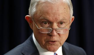 Attorney General Jeff Sessions said the task force was born of President Trump's executive order to dismantle transnational criminal orders. (Associated Press)