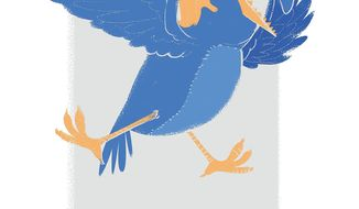 Illustration about the post-tweet presidency by Linas Garsys/The Washington Times