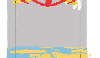 Illustration on Iranian influence in the Persian Gulf region by Linas Garsys/The Washington Times