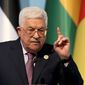 Palestinian Authority President Mahmoud Abbas, at the Organization of Islamic Cooperation summit in Istanbul, threatened to remove the U.S. from the Middle East peace process because of President Trump's decision to declare Jerusalem as Israel's capital. (Associated Press)
