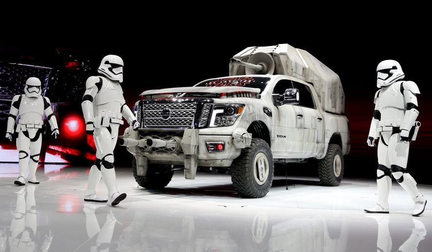 """Nissan is marketing its """"Star Wars""""-themed Titan custom truck. (Associated Press/File)"""