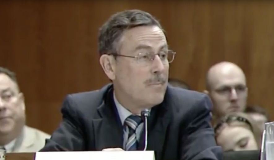 Michael Dourson, nominated to lead the agency's Office of Chemical Safety and Pollution Prevention, pulled his name from consideration after it became clear he was unlikely to be confirmed by the full Senate. (EPA via Youtube.com)