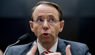 Deputy Attorney General Rod Rosenstein told a House committee that special counsel Robert Mueller took quick action to oust FBI counterintelligence official Peter Strzok from the Russia investigation after learning of his politically biased text messages. (Associated Press)