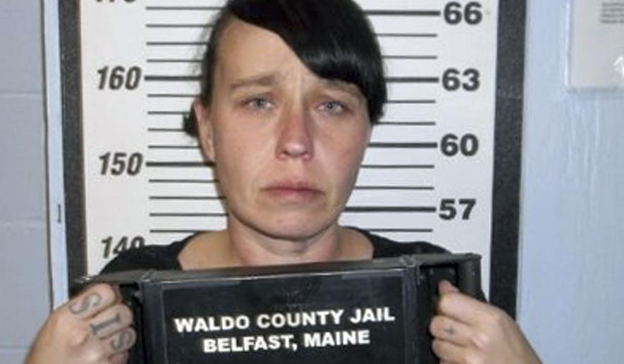 This 2017 booking photo released by the Waldo County, Maine, Sheriff's Department shows Miranda Hopkins, of Troy, Maine. Hopkins was sentenced Wednesday, Dec. 13, 2017, to 13 years in prison after she was convicted of manslaughter in November. She had drunk multiple shots of liquor and smoked marijuana on the January night of her infant son's death from blunt force head injuries. (Waldo County Sheriff's Department via AP)