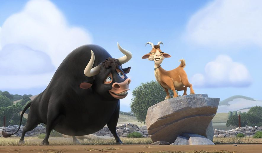 "This image released by Twentieth Century Fox shows a scene from the animated film, ""Ferdinand."" (Twentieth Century Fox via AP)"