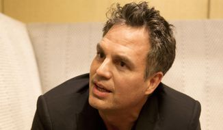 """In this Dec. 8, 2017 photo, actor and environmental advocate Mark Ruffalo speaks during an interview in Atlanta. Ruffalo said he is disgusted with President Donald Trump's plan to shrink two sprawling Utah national monuments by nearly two-thirds and said that Trump's decision was a """"slap in the face"""" to Native Americans. (AP Photo/John Bazemore)"""