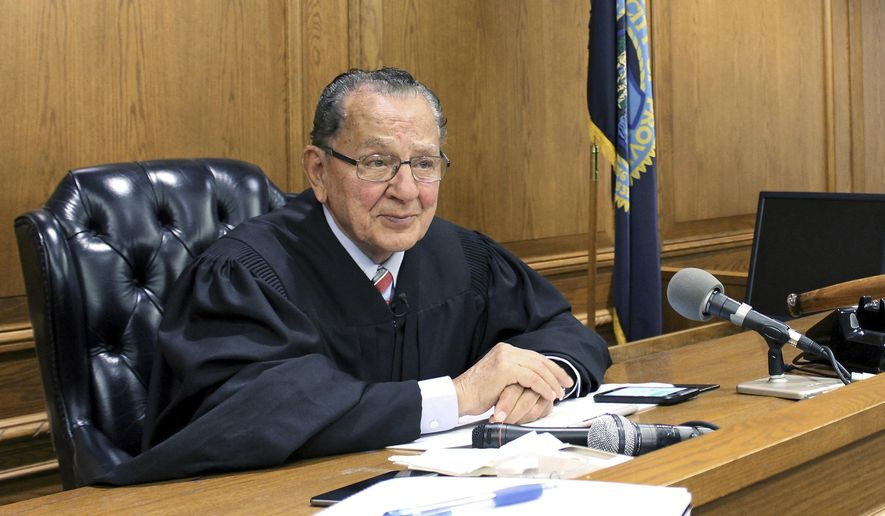 "FILE - In this Aug. 10, 2017 file photo, Providence Municipal Court Judge Frank Caprio sits on the bench in Providence, R.I. The television program featuring the 81-year-old judge, who made a splash on social media, is going national. The producers of the local show ""Caught in Providence"" have struck a deal with FOX Television Stations to air the show in major media markets starting in the fall of 2018. (AP Photo/Michelle R. Smith, File)"