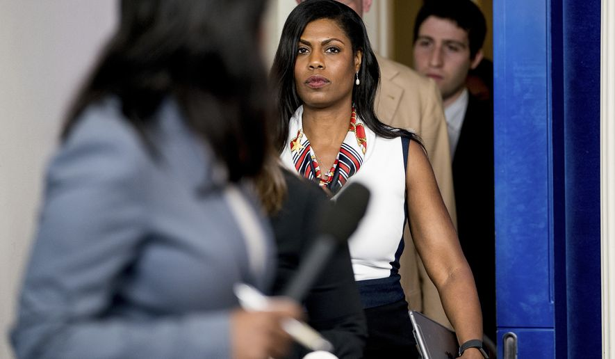 White House Director of communications for the Office of Public Liaison Omarosa Manigault arrives for the daily press briefing at the White House, Tuesday, May 30, 2017, in Washington. (AP Photo/Andrew Harnik) ** FILE **