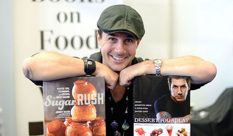 Johnny Iuzzini book signing October 2014. (Wikipedia)