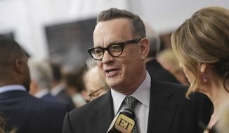 "Actor Tom Hanks attends the premiere of ""The Post"" at The Newseum on Thursday, Dec. 14, 2017, in Washington. (Photo by Brent N. Clarke/Invision/AP) ** FILE **"