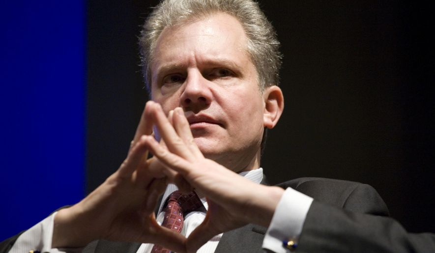 FILE- In this March 11, 2010 file photo, Arthur Sulzberger, Jr., chairman and publisher of The New York Times, speaks at the Bloomberg BusinessWeek 2010 Media Summit in New York. Sulzberger, 66, will step down as publisher on Dec. 31, 2017, the New York Times announced on Thursday, Dec. 14, 2017, and pass the reins to his 37-year-old son, Arthur Gregg Sulzberger. The elder Sulzberger will remain as chairman of the board of directors. (AP Photo/Mark Lennihan)