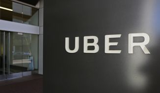 This March 1, 2017, file photo shows an exterior view of the headquarters of Uber in San Francisco. A former Uber security specialist fired earlier this year made the explosive allegations in a 37-page letter seeking a big payoff for being forced out. The letter was unsealed Friday, Dec. 15, by a federal judge. (AP Photo/Eric Risberg, File)