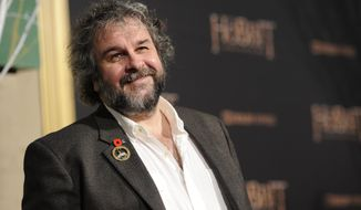 """FILE - In this Dec. 9, 2014 file photo, Peter Jackson arrives at the Los Angeles premiere of """"The Hobbit: The Battle Of The Five Armies"""" at the Dolby Theatre. Jackson says he is now realizing that Harvey Weinstein's advice to avoid working with Mira Sorvino or Ashley Judd was likely part of a smear campaign against the two actresses. Jackson tells Stuff that he was told in the late 1990s that they were """"a nightmare"""" to work with and thus didn't consider either for his Lord of the Rings films.(Photo by Chris Pizzello/Invision/AP)"""