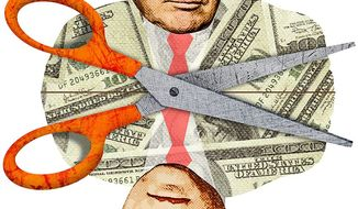 Mirror Tax Cut Plans Illustration by Greg Groesch/The Washington Times