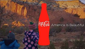 "An image from Coke's ""America is beautiful"" ad is part of an advertising genre that is openly hostile to President Trump and his policies. (Adweek)"