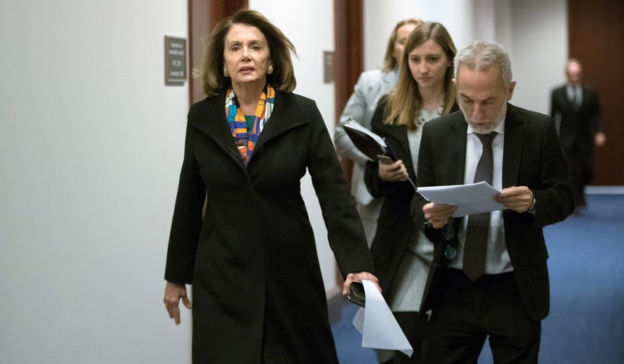 House Minority Leader Nancy Pelosi of California and other Democrats are struggling to deal with donations from the owners of Backpage, a classified-ad website that is a hub for sex trafficking and prostitution. (Associated Press/File)