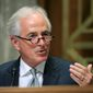 "Sen. Bob Corker, Tennessee Republican, voted against the tax bill last month but said he changed his mind ""after great thought and consideration."" (Associated Press/File)"