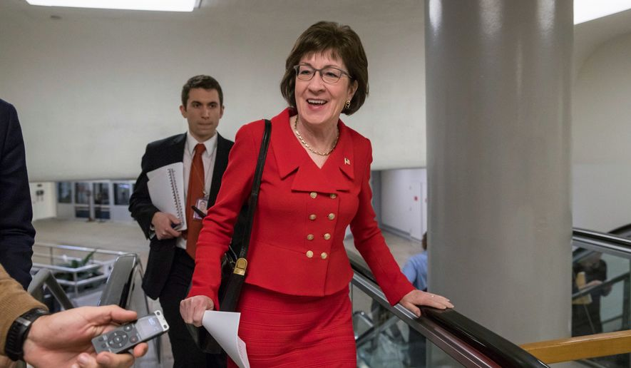 Sen. Susan M. Collins of Maine, the least-conservative Republican in the Senate, announced Monday that she would support the tax reform bill, giving an extra boost to the legislation. (Associated Press/File)