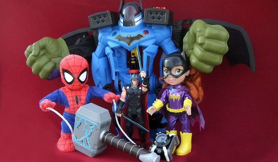 Gift guide 2017 best ideas for young superhero role players gift ideas for action figure 39 fans include swing and sling spidey negle Images