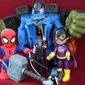 Gift ideas for action-figure ' fans include Swing and Sling Spidey, Hulk Smash FX Fists, Batbot Extreme, Rumble Strike Hammer, Electronic Thor, Deluxe Omnitrix and DC Toddler Batgirl. (Photograph by Joseph Szadkowski / The Washington Times)