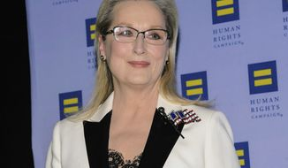 In this Feb. 11, 2017, file photo, Meryl Streep attends the Human Rights Campaign Greater New York Gala at Waldorf Astoria Hotel in New York. Streep says in a statement Monday, Dec. 18, that she did not know Harvey Weinstein was allegedly harassing and assaulting women when they worked together. (Photo by Christopher Smith/Invision/AP, File)