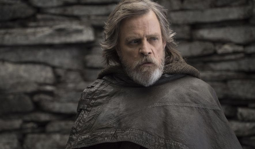 "Luke Skywalker (Mark Hamill) comes off like a whiny old man, and male characters are portrayed as weak, say conservative film critics say of ""Star Wars: The Last Jedi."" (Associated Press/File)"