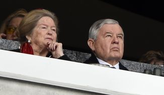 Carolina Panthers owner Jerry Richardson watches the action during the first half of an NFL football game between the Carolina Panthers and the Green Bay Packers in Charlotte, N.C., Sunday, Dec. 17, 2017. The Carolina Panthers have announced that owner Jerry Richardson is selling the NFL franchise amid an investigation by the league into allegations of sexual and racist misconduct by Richardson in the workplace. (AP Photo/Mike McCarn)