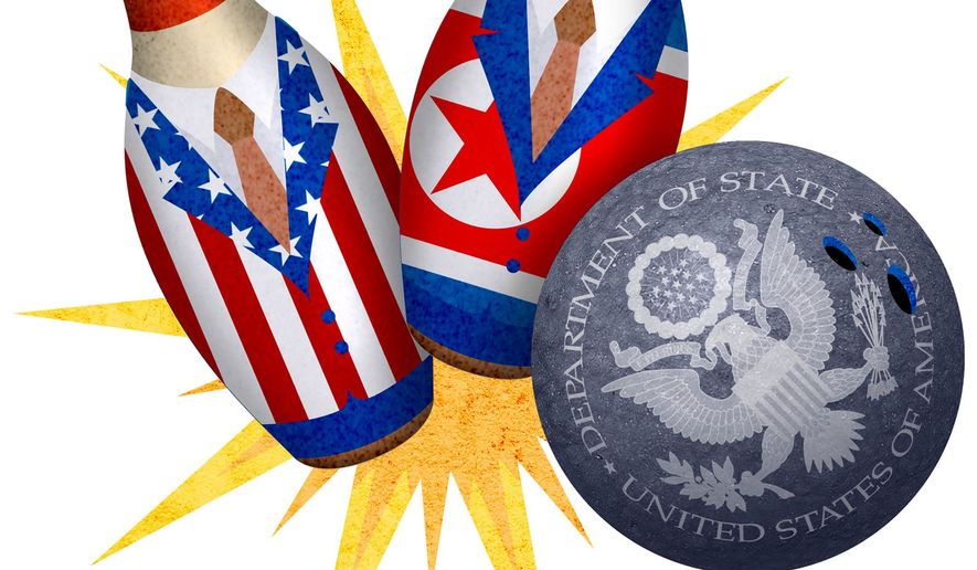 Bowling Over Diplomatic Efforts Illustration by Greg Groesch/The Washington Times