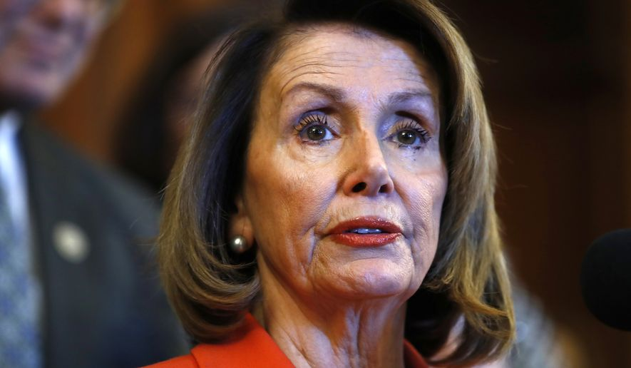 "House Minority Leader Nancy Pelosi of California dubbed the tax cut legislation that Republicans passed Tuesday ""the worst bill to ever come to the floor of the House."" (Associated Press) ** FILE **"