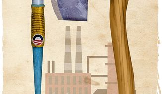 Standing Up for Coal Industry Illustration by Greg Groesch/The Washington Times