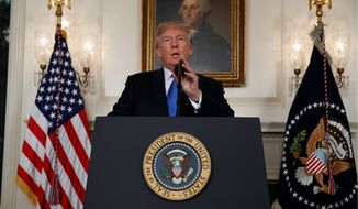 """America will lead again,"" said President Trump in unveiling the new national security strategy lists. ""We do not seek to impose our way of life on anyone, but we will champion the values without apology,"" he said. (Associated Press)"