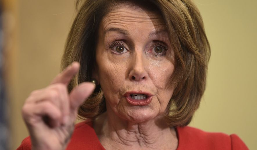 House Minority Leader Nancy Pelosi of Calif., speaks on Capitol Hill in Washington, Wednesday, Dec. 20, 2017, about the reauthorization of the Children's Health Insurance Program (CHIP). (AP Photo/Susan Walsh)