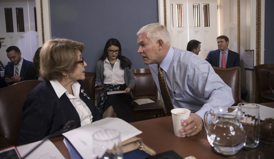 "House Rules Committee Chairman Pete Sessions, Texas Republican, conferred Thursday with Rep. Louise Slaughter of New York, with a government shutdown clock ticking toward a midnight deadline. Mr. Sessions told Democrats demanding a ""DACA fix"" as part of the bill, ""We will address the issue. We do care very much about this issue."" (Associated Press)"