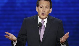 In this Aug. 29, 2012, file photo, former Minnesota Gov. Tim Pawlenty addresses the Republican National Convention in Tampa, Fla. Pawlenty is eyeing a climb back onto the national stage. (AP Photo/J. Scott Applewhite, File)