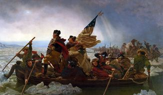 """Washington Crossing the Delaware"" by Emanuel Leutze. Image in the public domain, via Wikimedia Commons."
