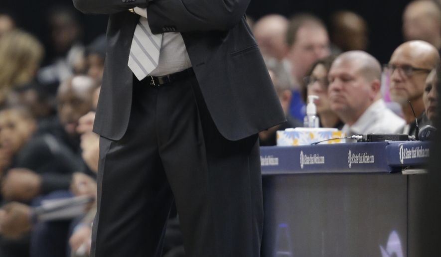 Indiana Pacers head coach Nate McMillan watches from the sideline while playing the Brooklyn Nets during the first half of an NBA basketball game in Indianapolis, Saturday, Dec. 23, 2017. The Pacers won 123-119 in overtime. (AP Photo/AJ Mast)