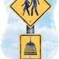 DC Pedestrian Warning Sign Illustration by Greg Groesch/The Washington Times