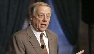 In this Tuesday, Dec. 6, 2005 file photo, then-Gov. Phil Bredesen (D) talks about the resignation of Col. Lynn Pitts, commander of the Tennessee Highway Patrol, in Nashville, Tenn. Mr. Bredesen has kicked off his 2018 Senate run from a position of strength, a known quantity in Tennessee. (AP Photo/Mark Humphrey, File) **FILE**