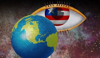 USA Eye in the Sky Illustration by Greg Groesch/The Washington Times