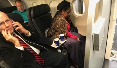 U.S. Rep. Sheila Jackson Lee of Texas told her followers on Twitter that racial animus is to blame for a Dec. 18 seat-stealing controversy on United Airlines. A customer wants an apology from United for giving her first-class ticket to the Democrat, although United claims the ticket was forfeited on an app before the flight. (Image: Twitter, Jean-Marie Simon)