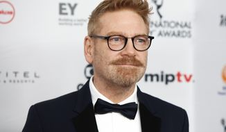 """CORRECTS NAME OF CHARACTER TO DETECTIVE HERCULE POIROT FROM DETECTIVE HERCULES POIROT - FILE - In this Nov. 20, 2017, file photo, Kenneth Branagh attends the 45th International Emmy Awards at the New York Hilton in New York. Branagh is teasing the return of """"old friends"""" in his planned sequel to """"Murder on the Orient Express."""" Branagh is expected to return as both director and fancifully mustachioed lead character Detective Hercule Poirot in """"Death on the Nile"""" (Photo by Andy Kropa/Invision/AP, File)"""