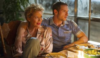 "This image released by Sony Pictures Classics shows Annette Bening, left, and Jamie Bell in a scene from ""Film Stars Don't Die in Liverpool."" (Sony Pictures Classics via AP)"